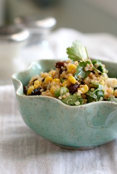 A healthy summer salad...southwestern black bean and quinoa salad.