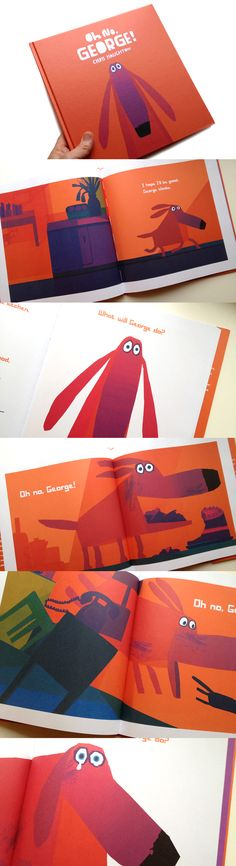by Chris Haughton. Love the bright illos. Also like how he managed to give such a simply constructed character so much personality - there's a real trick to that. And finally: this book has a trailer?! What?