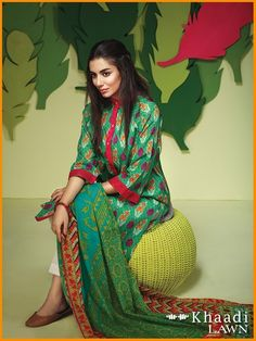 Khaadi Lawn Summer Collection Volume 2 2016  #Khaadi #Dresses #LawnCollection #PrintedLawnShirt