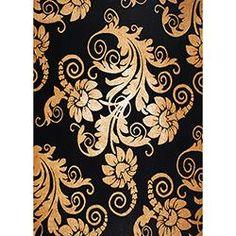 Tapete Marbella Moderno Floral Veludo 98x150cm - Rayza