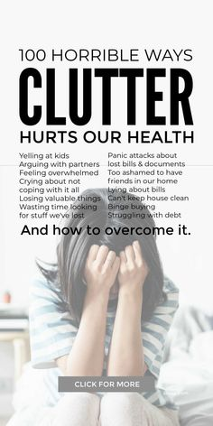 Clutter hurts our mental health and family wellbeing in all sorts of ways and is never way. If you're depressed, anxious, stressed & overwhelmed by clutter you're not alone and there are simple steps you can take to declutter your home and reclaim your life. #declutter #clutter #mentalhealth #overwhelmed #decluttersteps Mental Health And Wellbeing, Mental Health Problems, Health And Wellness, Money Problems, Youre Not Alone, Feeling Overwhelmed, Simple Living, Depressed, Wasting Time