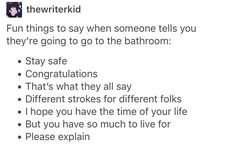 Lol I'm definitely doing the last one