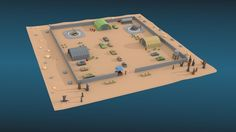 Low Poly Military Base Pack | 3D Model