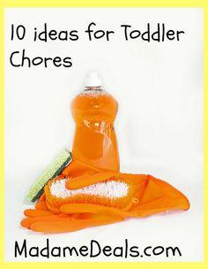 10 ideas for Toddler Chores + Free Printable Chore Charts http://madamedeals.com/10-ideas-toddler-chores-free-printable-chore-charts/ #inspireothers #printable