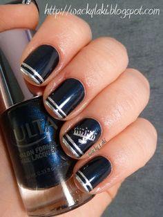 Ulta Wild Night for Hanukkah... tutorial for tips at http://wackylaki.blogspot.com/2012/01/tutorial-tuesday-silver-tips.html
