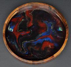 Into The Darkness - Resin Art Tray Serving Tray Wood, Acacia Wood, Resin Art, Darkness, Art Pieces, Modern, Handmade, Etsy, Trendy Tree