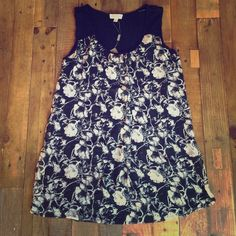 """Selling this """"Black and white floral tank top"""" in my Poshmark closet! My username is: mbandino. #shopmycloset #poshmark #fashion #shopping #style #forsale #Joseph A.  #Tops"""