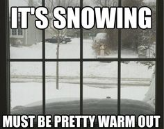 So true. It can't snow if it's too cold.