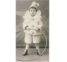 Little Boy Clown Carnival Costume CDV Photo C1905   eBay