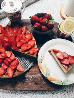 New york cheesecake with mascarpone and strawberries!