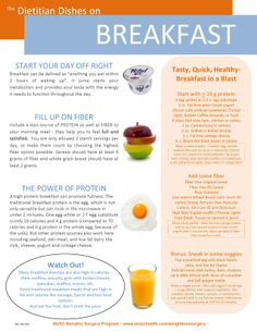 Dietitians at the Medical University of South Carolina provide great tips for a healthy breakfast.