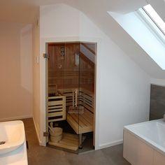 Dachschrägensauna, Sauna in der Dachschrägen