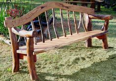 Timber Bench Andrew Smith, Outdoor Furniture, Outdoor Decor, Garden Bridge, Wood Benches, Outdoor Structures, Crafts, Home Decor, Manualidades