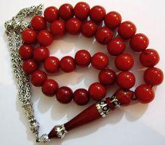 SPR Aging Faturan Amber Bakelite Rosary Prayer Worry Beads Misbaha 11x11mm 45gr   eBay