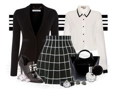 """""""Time For Work"""" by whiteflower7 ❤ liked on Polyvore featuring Marella, Massimo Castelli, Jason Wu, Betsey Johnson and Burberry"""