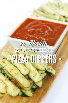 Kids love these!!! Zucchini Pizza Dippers. A healthy snack or lunch for even the most skeptical veggie haters.