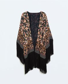 ZARA - COLLECTION AW14 - PRINTED JACKET WITH FRINGES