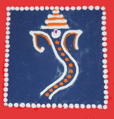 Beautiful Lord Ganesh Rangoli Designs for Easy and Simple to Make Easy Rangoli Designs Diwali, Rangoli Simple, Ganesh Rangoli, Diwali Festival, Paint Colors, Coloring, Lord, Kids Rugs, Painting