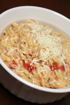 #SexyShredRecipes Runs With Spatulas: Orzo Risotto with Tomato, Mozzarella, and Basil | Whole wheat orzo, clean broth. Organic, BPA-free diced tomatoes or freshly diced tomatoes.