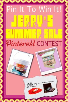 Pin for your chance to win free art supplies!