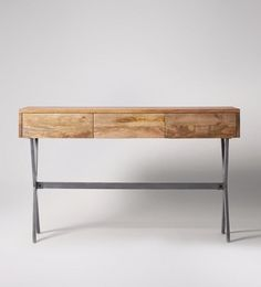 Glover, Console Table, Mango Wood & Aged Steel £299