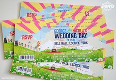 Festival Wedding Invites by MartyMcColgan on Etsy, £3.00