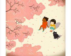 Sitting under cherry tree (Taeeun Yoo)