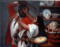 """(Mexican Casta Painting) José de Alcíbar: """"De Negro y De India Sale Lovo"""""""