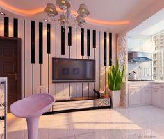 Ideas Music Room Interior Design Piano Keys For 2019 Studio Decor, Music Studio Room, Music Room Art, Music Rooms, Music Furniture, Music Bedroom, Home Music, Piano Room, Deco Design