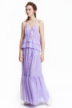 Long chiffon skirt: Long, tiered skirt in patterned crinkled chiffon with an elasticated drawstring waist. Lined. Prom Dresses, Summer Dresses, Formal Dresses, Long Chiffon Skirt, Tiered Skirts, Fashion Online, Kids Fashion, Street Style, My Style