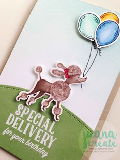 Crazy Crafters Product Purchase Premiere Blog Hop. Birthday Delivery bundle. Juana Create. Zoo Birthday, Girl Birthday Cards, Little Girl Birthday, Friend Birthday, Card In A Box, Pop Up Card, Handmade Tags, Greeting Cards Handmade, Birthday Delivery