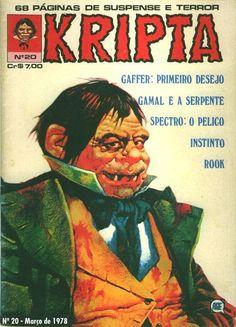 Revista Kripta #20 - RGE (1976) - Quadrinhos de terror, suspense, ficção e sobrenatural