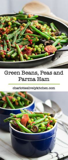 Green Beans, Peas and Parma Ham – A delicious summer side dish. Simple to make and ready in just 10 minutes.