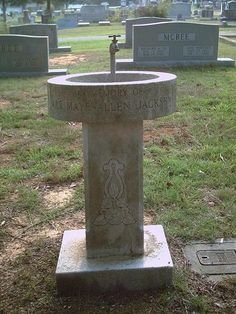 water fountain gravestone -- dont know that I would want to drink from it.  Just sayin'......
