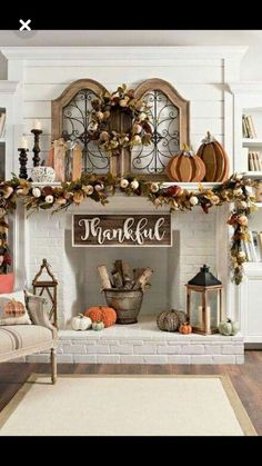 Fall Mantle Decorating Ideas Fall / Autumn Fireplace Mantle Decor Ideas The post Fall Mantle Decorating Ideas & House appeared first on Fall decor ideas . Fall Home Decor, Autumn Home, Diy Home Decor, Fall Decor Signs, Fall Apartment Decor, Country Fall Decor, Apartment Entrance, Autumn Fall, Fall Living Room