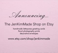 The JenKimMade Shop on Etsy is open!