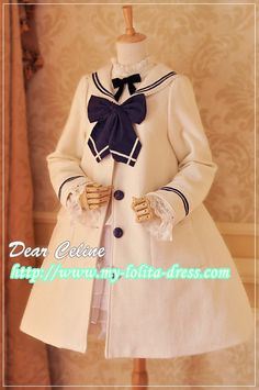 Linda's Recommendation III: Dear Celine Sailor Style Sweet Lolita Winter Coat >>> http://www.my-lolita-dress.com/sailor-collar-babydoll-sweet-lolita-winter-coat-dc-26 [★5 Colors Available★]