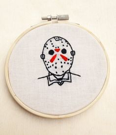 Friday the 13th Movie Jason Voorhees Hand Embroidery Freddy Krueger Michael Myers Movie Hoop Art Slasher Horror Movie Halloween Art