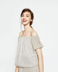 Loose Off Shoulder Top from Zara R299,00