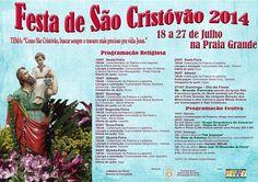Festa de São Cristóvão 2014 18 a 27 de Julho na Praia Grande de Paraty  Confira a programação Religiosa e Festiva  #FestaDeSãoCristóvão #SãoCristóvão #festa #evento #Paraty #cultura #turismo #PousadaDoCareca