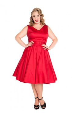 Pinup Couture- Havana Nights Dress in Red | Pinup Girl Clothing