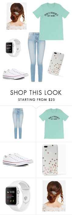 """""""Bridges are better than walls"""" by abhackmann ❤ liked on Polyvore featuring Converse, Kate Spade and Jon Richard"""