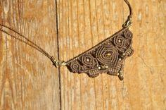 Lange handgefertigte Makramee Halskette von MichalGeist auf Etsy