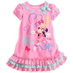"""Disney Store Minnie Mouse Clubhouse \""""Tutu Cute\"""" Nightshirt Nightgown Girls, Pink, Size >>> Be sure to check out this awesome product. Cute Little Girls Outfits, Toddler Girl Outfits, Little Girl Dresses, Girls Dresses, My Baby Girl, Pink Girl, Disney Nightgowns, Minnie Mouse Clubhouse, Sleepwear Sets"""