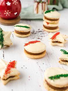 Dessert Crepes, Dessert For Dinner, Creative Desserts, Great Desserts, Christmas Desserts, Christmas Treats, Christmas Cookies, Sorbet, Cookie Recipes