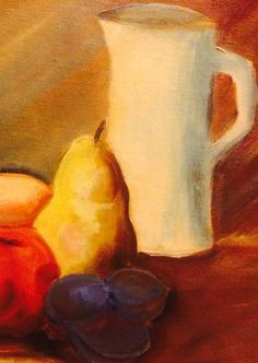 Still life - for some reason, I find pears particularly lovely. Finding A House, Pears, Local Artists, Still Life, Around The Worlds, Display, Painting, Design, Billboard