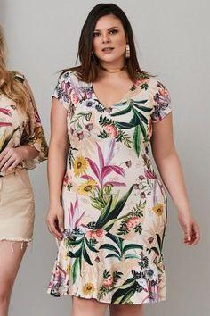 4a2777cd1 melhores modelos de vestido plus size Vestido Chique, Vestido Soltinho,  Vestido Florido, Vestidos