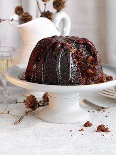 This recipe for gingerbread pudding with sticky toffee sauce is a great twist on a classic British dessert. Ginger is a traditional Christmas flavour and this recipe uses preserved and ground. You can use fresh grated ginger instead of the ground in the sponge, if you like.