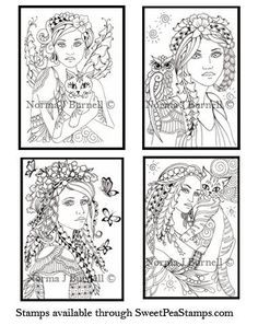 Fairy Tangles: 4 New Fairy-Tangle™ Stamp Designs for Sweet Pea Stamps
