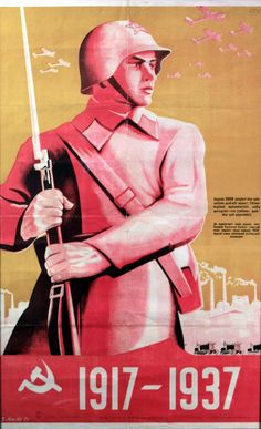 20th Anniversary of the October Revolution, 1937 - original vintage poster listed on AntikBar.co.uk
